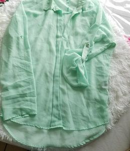 Charlotte russe Long sleeve blouse in good sz ~S